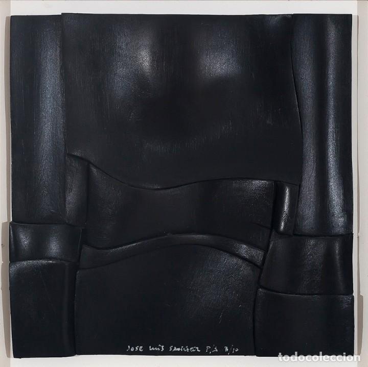 CONJUNTO DE 3 RELIEVES, EDICIÓN ESPECIAL DEL ESCULTOR JOSE LUIS SÁNCHEZ. (Arte - Escultura - Resina)