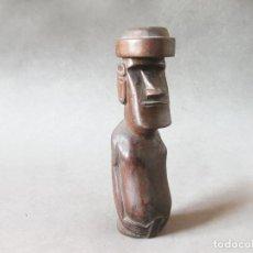 Arte: FIGURA MOAI DE MADERA DE LA ISLA DE PASCUA - AÑOS 90. Lote 222789107