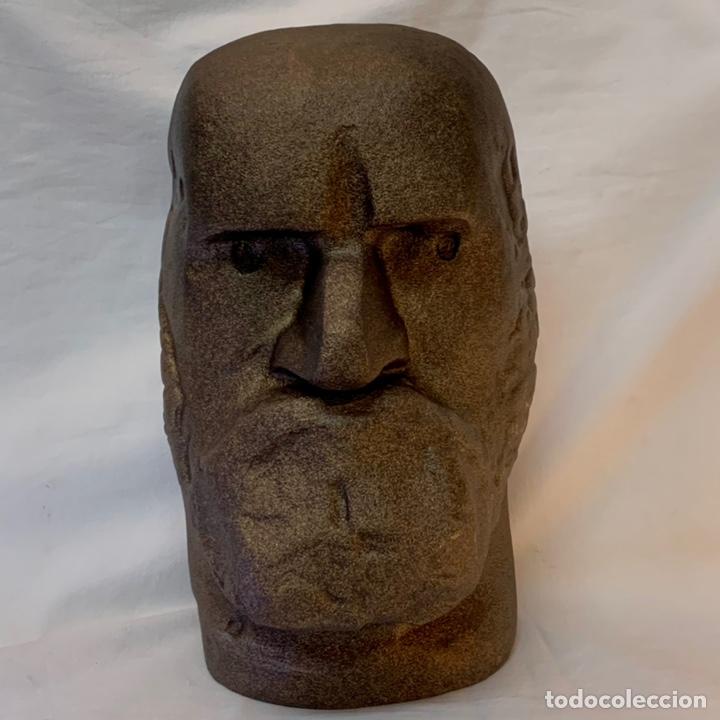 ESCULTURA BRONCE JORGE OTEIZA BUSTO CABEZA DE SABINO ARANA GUIPUZCOA SAN SEBASTIAN PAIS VASCO (Arte - Escultura - Bronce)