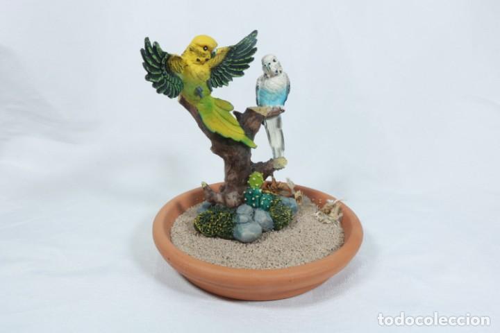 Arte: Escultura de Pareja de loros tropicales sobre un arbol hecho en porcelana y resina - Foto 2 - 223678111