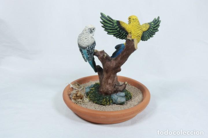 Arte: Escultura de Pareja de loros tropicales sobre un arbol hecho en porcelana y resina - Foto 5 - 223678111