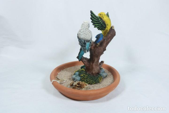 Arte: Escultura de Pareja de loros tropicales sobre un arbol hecho en porcelana y resina - Foto 6 - 223678111