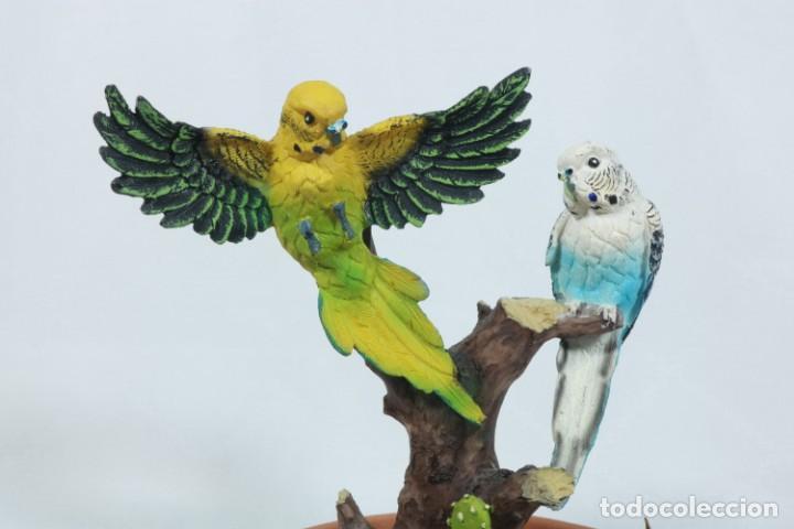 Arte: Escultura de Pareja de loros tropicales sobre un arbol hecho en porcelana y resina - Foto 9 - 223678111