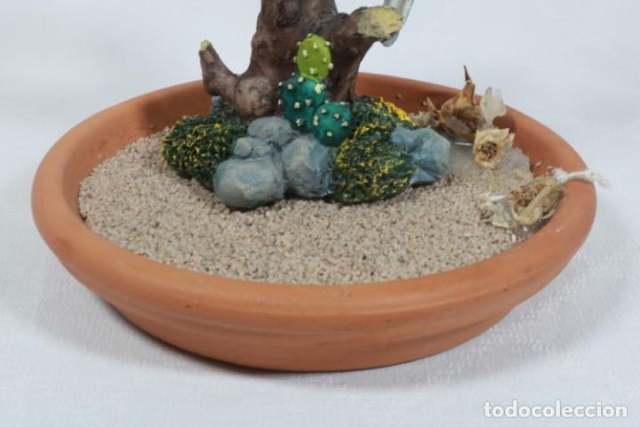 Arte: Escultura de Pareja de loros tropicales sobre un arbol hecho en porcelana y resina - Foto 10 - 223678111