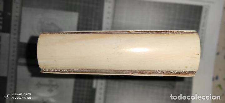 Arte: Misario con tapas de marfil y algún defecto. Pieza de comercialización totalmente legal. - Foto 6 - 223985647