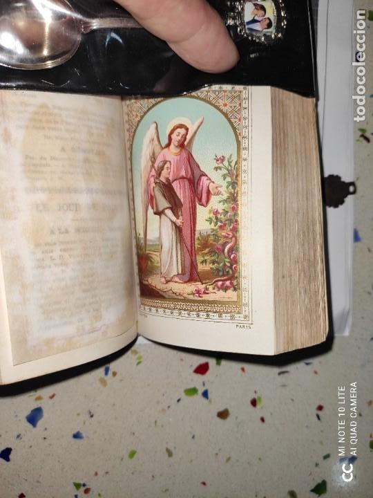 Arte: Misario con tapas de marfil y algún defecto. Pieza de comercialización totalmente legal. - Foto 16 - 223985647