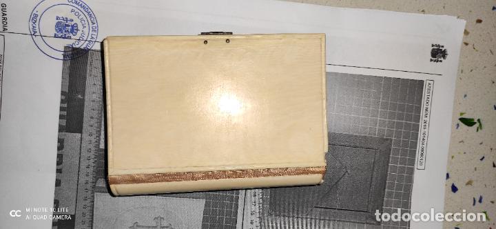 Arte: Misario con tapas de marfil y algún defecto. Pieza de comercialización totalmente legal. - Foto 3 - 223987312