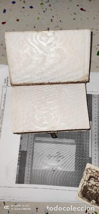 Arte: Misario con tapas de marfil y algún defecto. Pieza de comercialización totalmente legal. - Foto 6 - 223987312