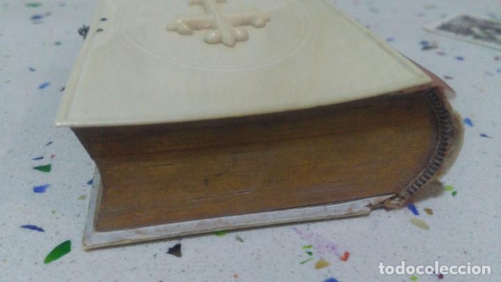 Arte: Misario con tapas de marfil y algún defecto. Pieza de comercialización totalmente legal. - Foto 19 - 223987312