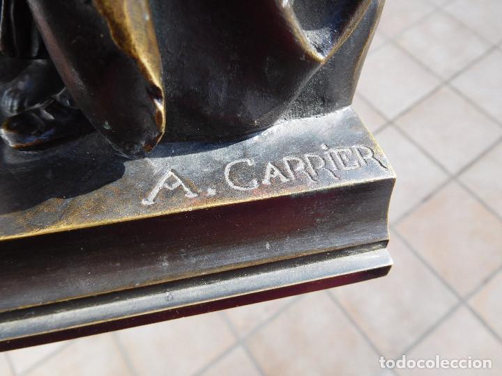 Arte: Limosnero de bronce del escultor frances Albert Ernest Carrier año 1850 aprox. - Foto 6 - 224353942