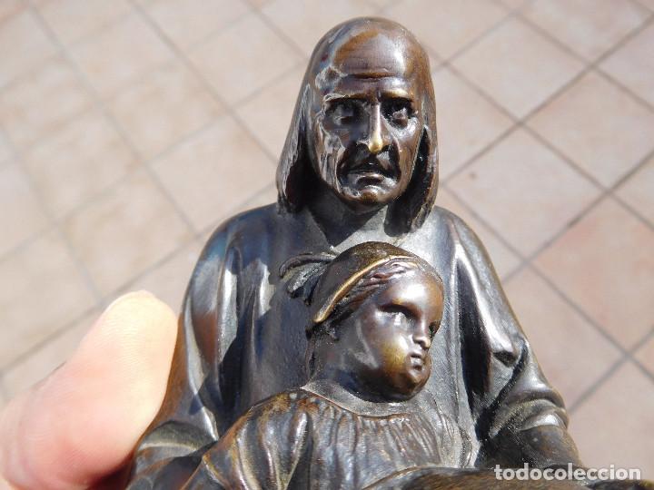Arte: Limosnero de bronce del escultor frances Albert Ernest Carrier año 1850 aprox. - Foto 12 - 224353942
