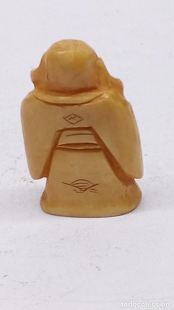 Arte: Figura japonesa de marfil o hueso tallado antigua - Foto 2 - 224371326
