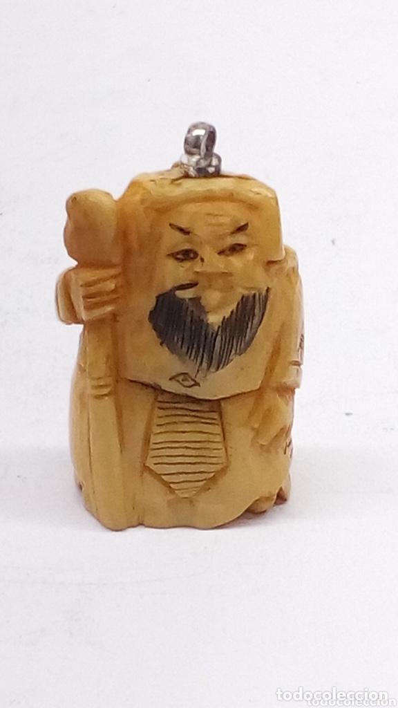Arte: Figura japonesa de marfil o hueso tallado antigua - Foto 2 - 224373753