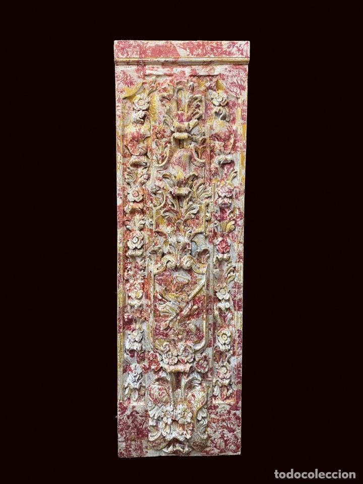 ESPECTACULAR TABLA DECORADA CON MOTIVOS DE TOILE DE JOUY (Arte - Escultura - Resina)
