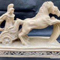 Arte: A. GIANNETTI. ESCULTURA GLADIADOR ROMANO CON CARRO DE CABALLOS A. GIANNETTI. Lote 224549140