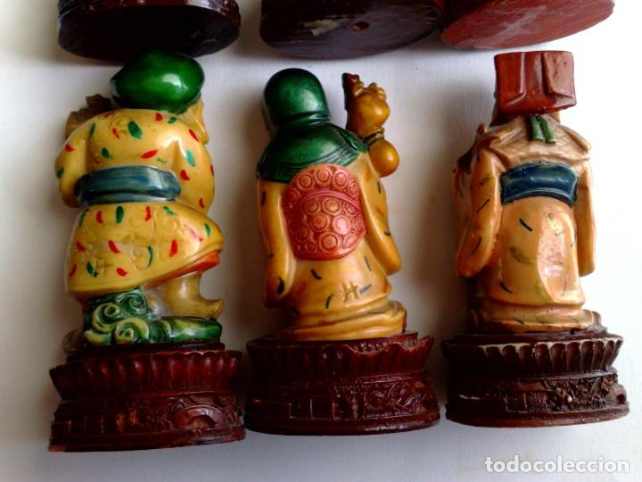 Arte: LOTE DE 6 DIFERENTES FIGURAS CHINAS DE RESINA.(DESCRIPCIÓN) - Foto 6 - 224725270