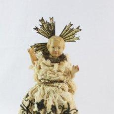 Arte: NIÑO JESÚS EN TERRACCOTA, SEDA. CA 1790 - A BABY JESUS SCULPTURE, TERRACOTTA, SILK. Lote 224838402