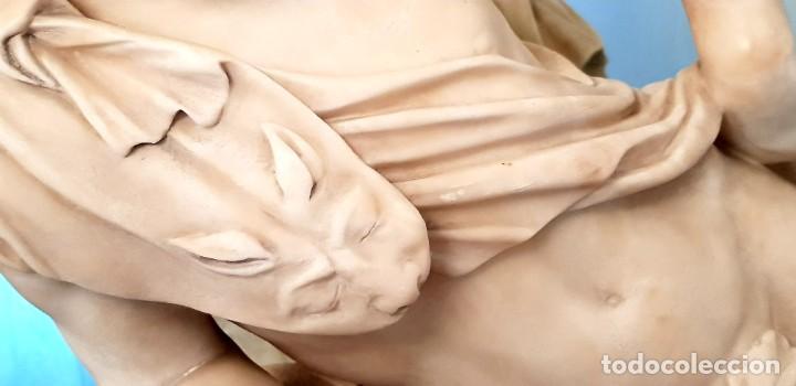 Arte: GRAN ESCULTURA ANTIGUA ALABASTRO GRAND TOUR - Foto 4 - 224405207