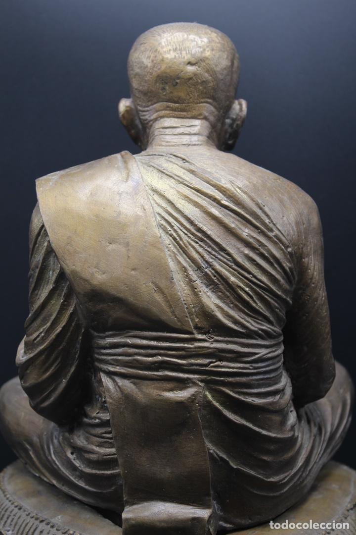 Arte: ESCULTURA DE BRONCE LUANG PU -THUAT Monje Budista - Foto 5 - 137649666