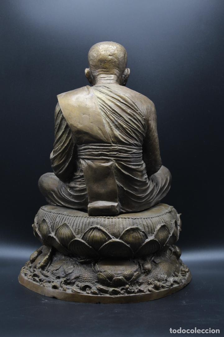 Arte: ESCULTURA DE BRONCE LUANG PU -THUAT Monje Budista - Foto 7 - 137649666