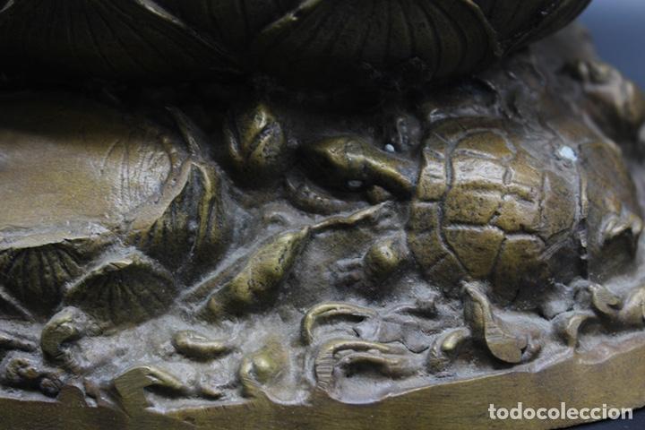 Arte: ESCULTURA DE BRONCE LUANG PU -THUAT Monje Budista - Foto 12 - 137649666