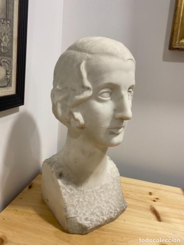 Arte: Busto de señora en marmol S. XIX - Foto 2 - 226074735