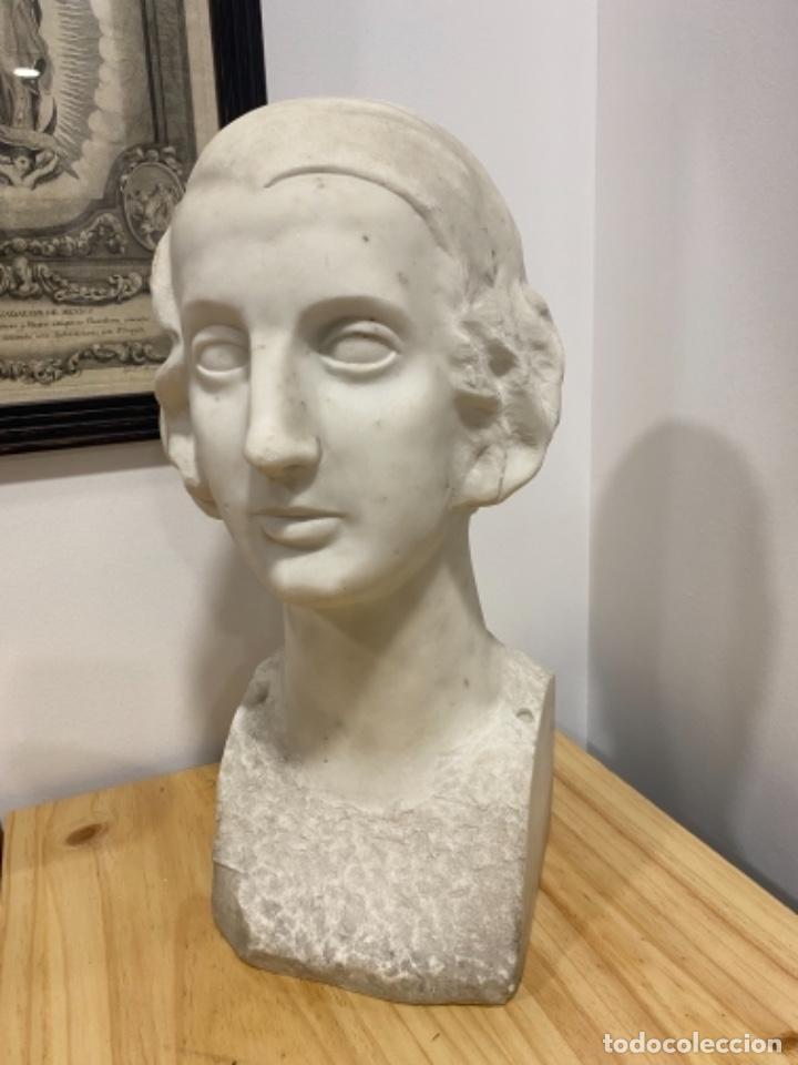 Arte: Busto de señora en marmol S. XIX - Foto 3 - 226074735