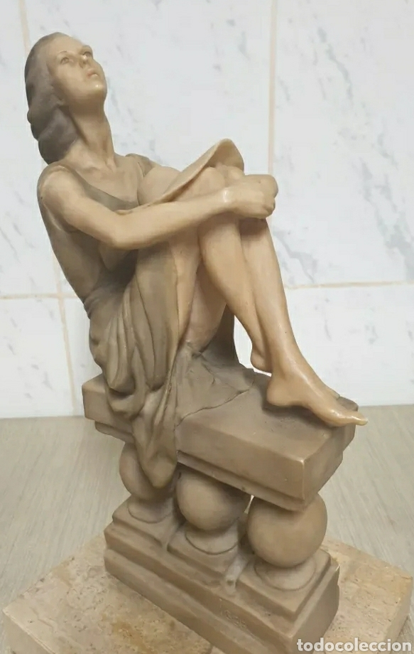 Arte: Escultura Resina Josep Bofill Compañeros de Soledad 1987 firmada alto 33,5 cm - Foto 2 - 226458537