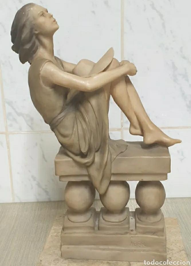 Arte: Escultura Resina Josep Bofill Compañeros de Soledad 1987 firmada alto 33,5 cm - Foto 4 - 226458537