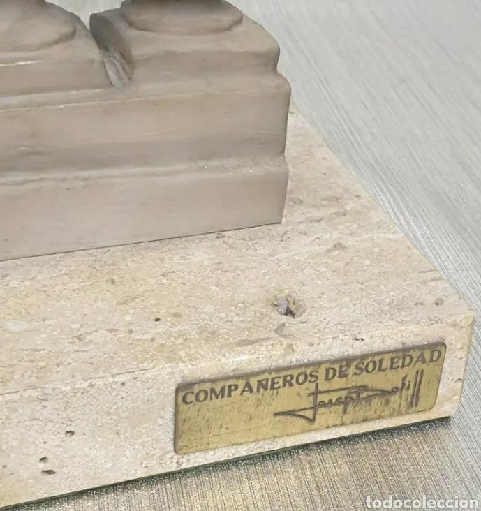 Arte: Escultura Resina Josep Bofill Compañeros de Soledad 1987 firmada alto 33,5 cm - Foto 7 - 226458537