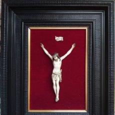 Arte: TALLA MARFIL CRISTO CRUCIFICADO JENARO PINTO. Lote 226834205