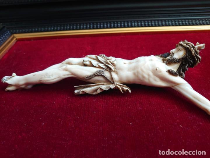 Arte: TALLA MARFIL CRISTO CRUCIFICADO JENARO PINTO - Foto 7 - 226834205