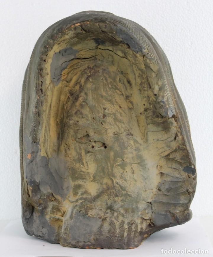 Arte: Busto de virgen en terracota firmado A. Guasch. Mediados del siglo XX - Foto 9 - 226845189