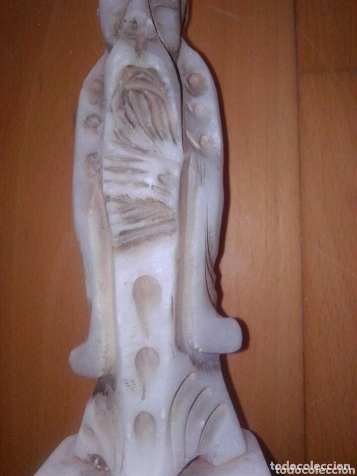 Arte: Figura de monje oriental de alabastro, - Foto 5 - 226895595