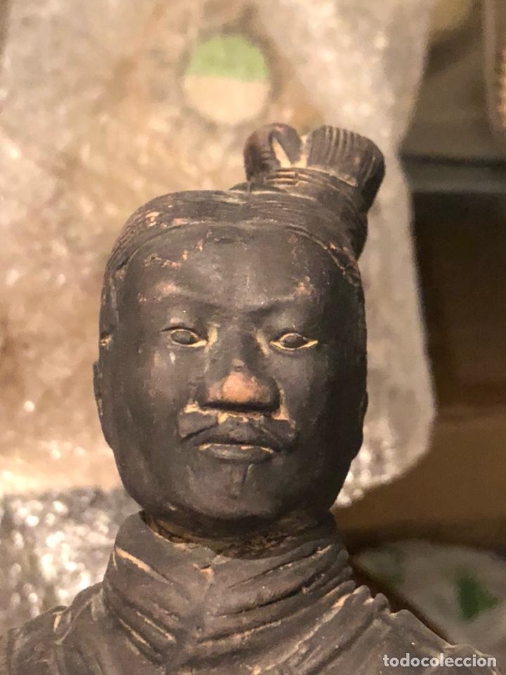 Arte: Bonito guerrero chino echo en barro - Foto 2 - 226904140