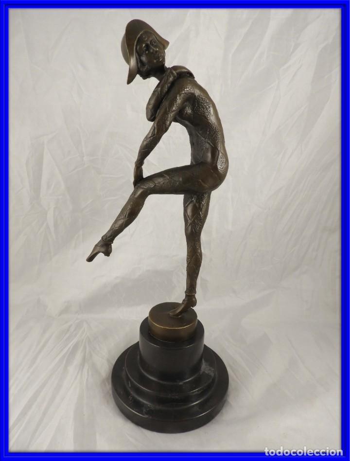 ESCULTURA DE ARLEQUIN DE BRONCE FIRMADO CHIPARUS (Arte - Escultura - Bronce)