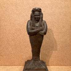 Arte: FIGURA TALLADA SIGUIENDO MODELOS DEL ARTE EGIPCIO. Lote 226961105