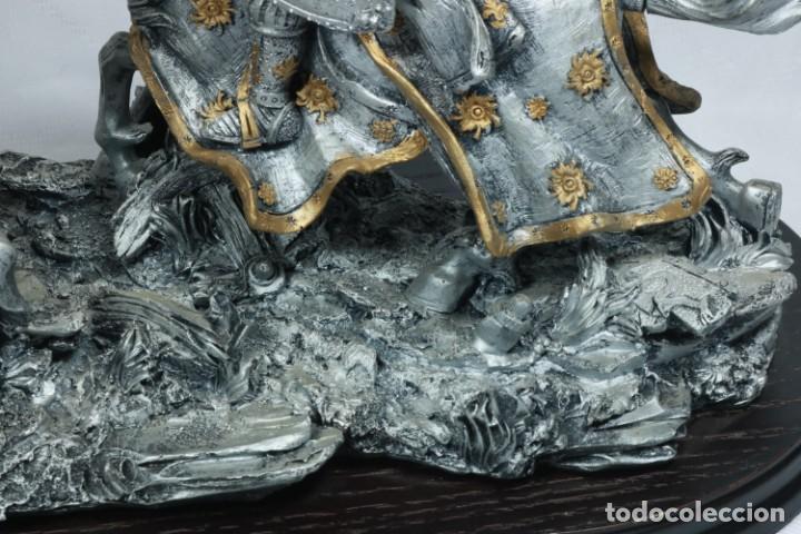 Arte: Impresionante escultura de dos guerreros medievales montado a caballo y luchando - Foto 11 - 228034450