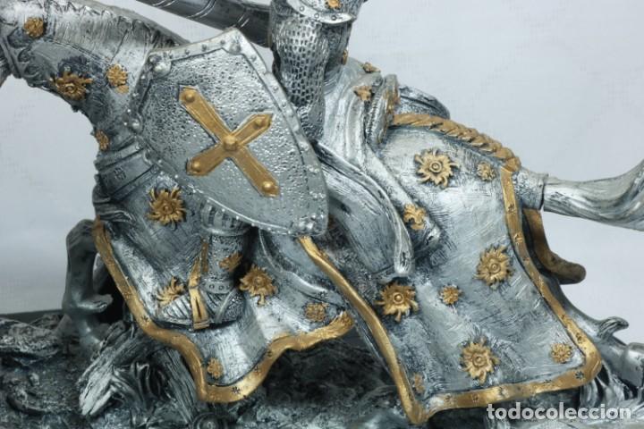 Arte: Impresionante escultura de dos guerreros medievales montado a caballo y luchando - Foto 12 - 228034450
