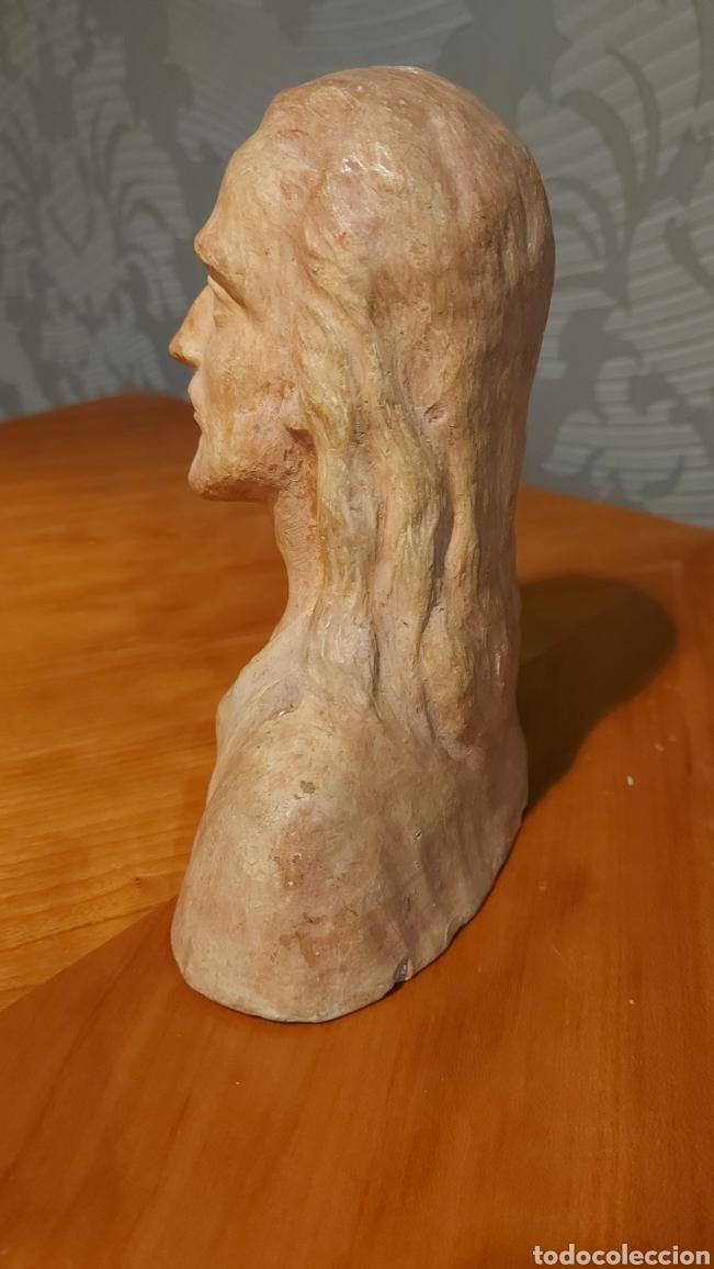 Arte: Busto cerámica Jesús firmado R de Tortosa imagen religiosa Tamaño 18 x 18 x 8 cm - Foto 2 - 228944880
