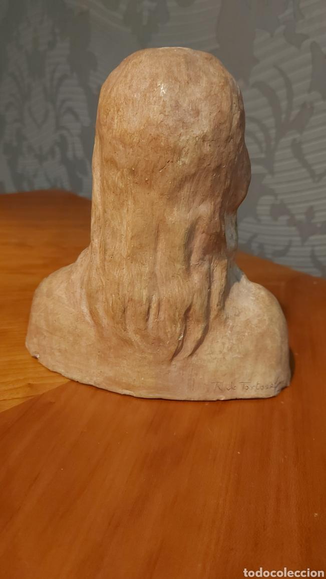 Arte: Busto cerámica Jesús firmado R de Tortosa imagen religiosa Tamaño 18 x 18 x 8 cm - Foto 3 - 228944880