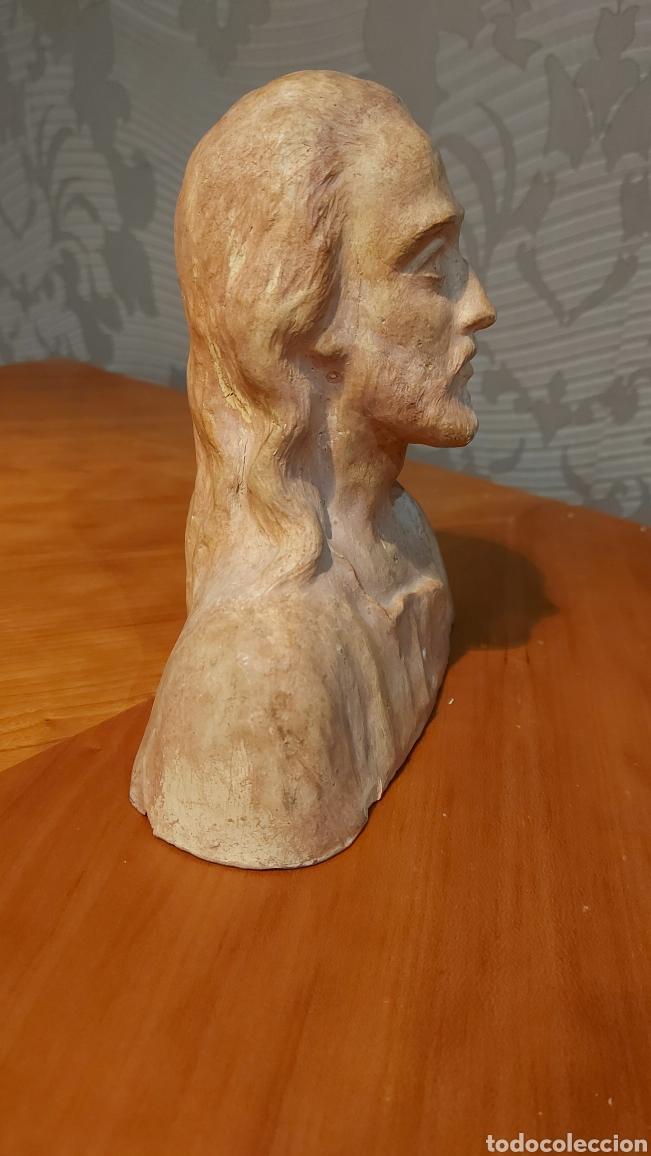 Arte: Busto cerámica Jesús firmado R de Tortosa imagen religiosa Tamaño 18 x 18 x 8 cm - Foto 4 - 228944880