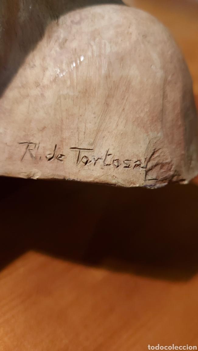 Arte: Busto cerámica Jesús firmado R de Tortosa imagen religiosa Tamaño 18 x 18 x 8 cm - Foto 5 - 228944880