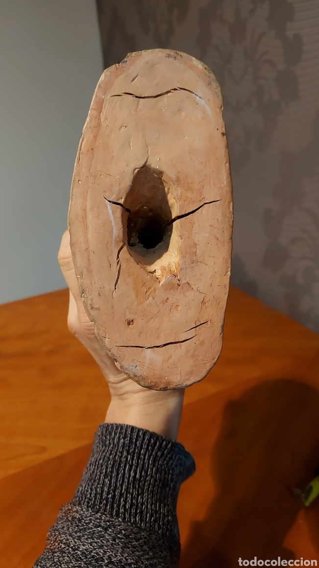 Arte: Busto cerámica Jesús firmado R de Tortosa imagen religiosa Tamaño 18 x 18 x 8 cm - Foto 6 - 228944880