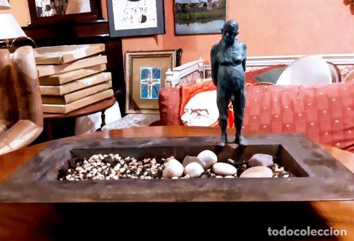 "Arte: Escultura bronce ""hombre en la piscina"" - Foto 2 - 229054120"