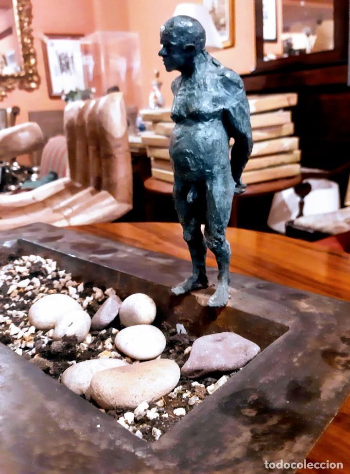 "Arte: Escultura bronce ""hombre en la piscina"" - Foto 5 - 229054120"