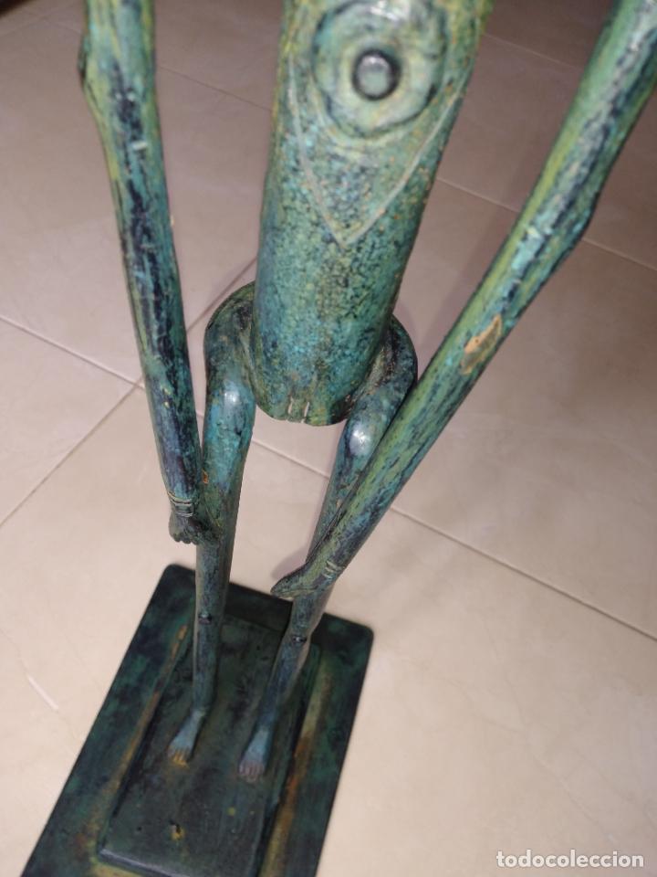 Arte: Escultura metal estilo africano mujer - Foto 2 - 229682225
