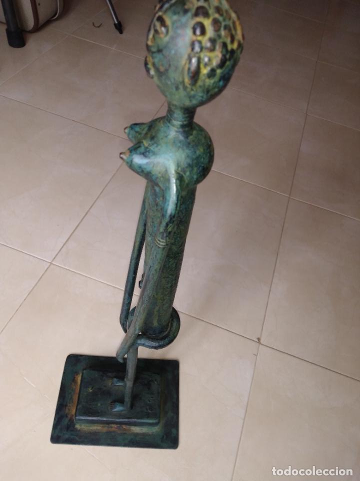 Arte: Escultura metal estilo africano mujer - Foto 3 - 229682225