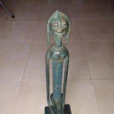 Arte: ESCULTURA METAL ESTILO AFRICANO HOMBRE. Lote 229682925