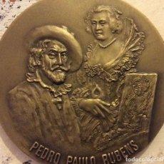 Arte: GRAN MEDALLON EN BRONCE MACIZO DEL PINTOR ALEMAN PEDRO PABLO RUBENS EDICION LIMITADA Y NUMERADA. Lote 71706851